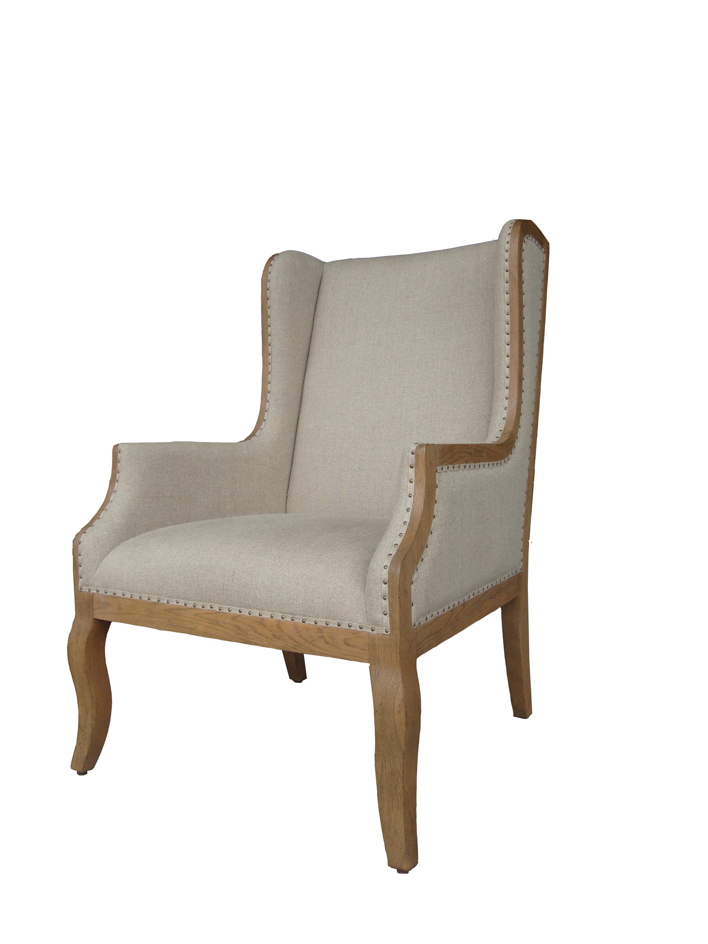 Melania high back arm chair