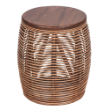 ODFSTOOLPALMERBR - Palmer patio stool brown