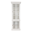 DSPCHAMPTONSWH1D - Hamptons white display cabinet