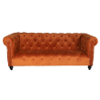 LNGLEONRUST - Leon 3 seat chesterfield
