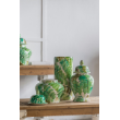 EVE1695 - Round green leaf jar short