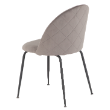 CHRNEBULAVELGRY - Nebula grey velvet chair