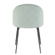 CHRNEBULAVELLGRY - Nebula light grey velvet chair