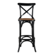 STOOLMIRXBACKBBL - Mirage cross back  bar stool
