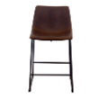 STOOLRIVETCBROWN - Rivet counter stool
