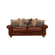 Churchill 3 Seat Lounge Old West Chocolate Leather 1531-2