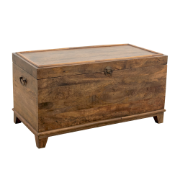 Trunk 90x45x47  Antique Brown Mango Wood 5196