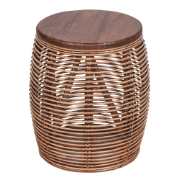 Palmer Patio Stool Brown Full BU & Mango Wood 7068