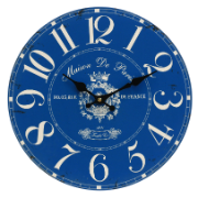 Clock French Blue 34cm LC9480-2