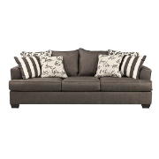 Liberty 3 Seater Lounge Charcoal Fabric 7340338