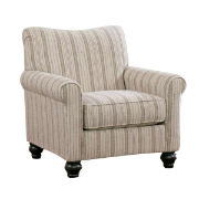 Hayman Single Stripe Arm Chair Sand 1300021