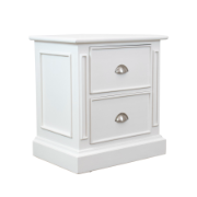 Hamptons Bedside Table White HA1341SWHT