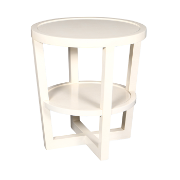 Blakely Lamp Table Round White Finish MA6906SWHT