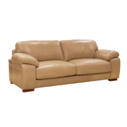 Catalina 2 Seat Sofa Omega/Split Lth - Pecan Brown Ventura (1744)