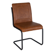Factory Vintage PU Chair Tan DC-1641 - Vintage Tan
