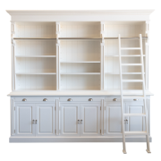 Hamptons White Library 3 Bays Short MA1793SWHTS