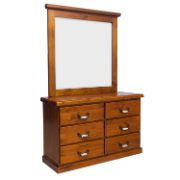 Albury Dressing Table With Mirror  COU6628