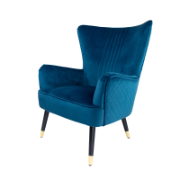 Enzo Blue Occasional Chair Y-T871B Blue Velvet