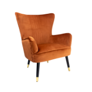 Enzo Rust Occasional Chair Y-T871B Rust Velvet