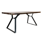 Nandi 1.8m Dining Table Metal Legs SBA-5268R