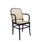 Theodore Dining Chair blk arm Birch Wood frame CSC1806
