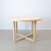 Modern Oak Table Round table 1200 Natural SDF209
