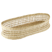 Sandstorm Woven Basket Oblong Natural/White DTA0468WH