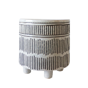 Matchstick Small Planter White/Black ES-HG42