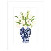 Ginger Jar Tulips 60x80 Framed Glass with Matt ES-HD78