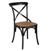 Mirage Cross Back Dining Chair Birch Black Wooden Cross CS-C2002-BIRCH
