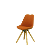 Nordic Fabric Eames Chair Orange SINGLE SEAT