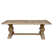 Provence refectory Table 3000x1000 Elm - Bullnose Edge JJ1594