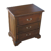 Blakely 3Draw Bedside Mahogany Rustic Brown MA1322RBRN