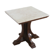 Goma Lamp Table Brown Mahogany Marble Top MA6917FB1
