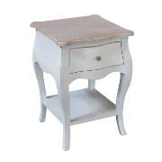 Marseille Lamp Table White Wash MA3551WW