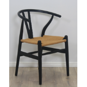 Sussex Chair Rope Black Seat XMS-CB2212 BLK
