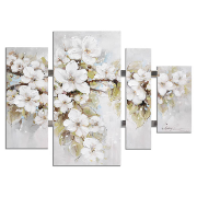 Canvas Flowers 4 Panel 109x80x3.5 12805T