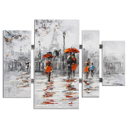 Canvas People  4 Panel 109x80x3.5 12806T