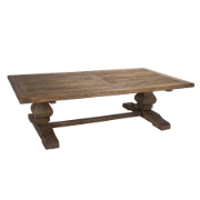 Provence Coffee Table Refectory Style Base - Elm