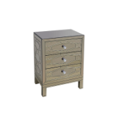 Clarissa Bedside with 3 Drawers GD-1a27