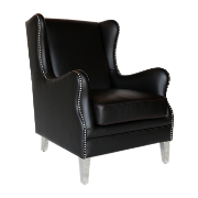 Thurls Arm Chair Black PU W2502