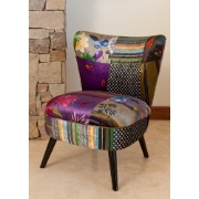Neta Chair Dark Purple Patchwork 2319 - ANNA-88C3