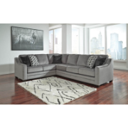 Belaire LH Corner Sofa Charcoal Fabric 8620449/66