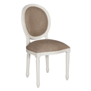 French Balloon Chair White MA3122SWHT