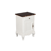 French Provincial Bedside With 1 Drawer and 1 Door MA1310SWHT