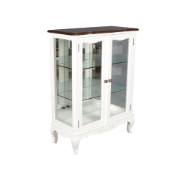 French Provincial 2Dr Glass Display Cabinet MA1792SWHT