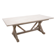 Hamptons Dining Table 200 Grey White Wash 5154 (200x100cm)