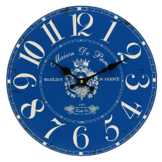 Clock french blue 34cm