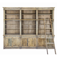 Provence library shelving