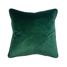 Velvet cushion emerald 45 x 45